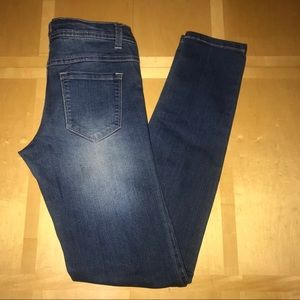 Blue Asphalt Skinny Distressed Jeans